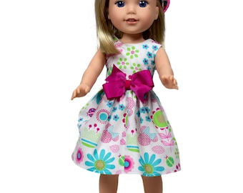 Minnie doll dress Made to fit all 15 inch dolls  like Wellie Wisher dolls doll clothes 15 inch doll dress, doll dress 15 inch doll dress