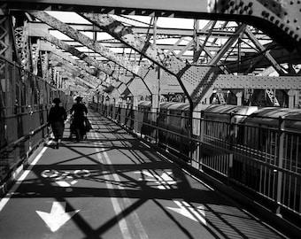 Couple on Williamsburg Bridge, NYC.