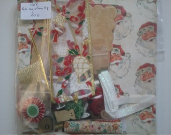Kit paperbag album Christmas theme, 20 x 20 cm