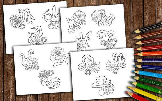 DISCOUNT Zodiac Coloring Books Coloring Pages Adult