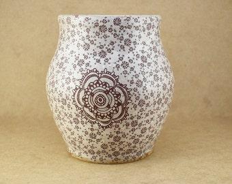 Flower Pottery Vase, Pottery vase, stoneware pottery vase, decor pottery vase, decorative pottery vase, vase, ceramic vase, white vase