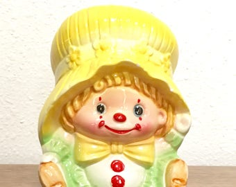 Vintage Clown Planter / Clown Planter / Children's Nursery Planter