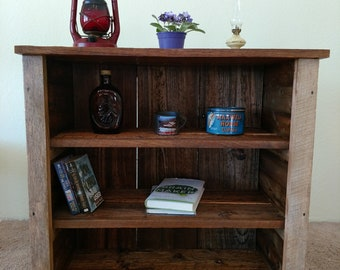 Handcrafted reclaimed oak and hemlock stand