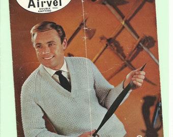 vintage knitting pattern man's jumper
