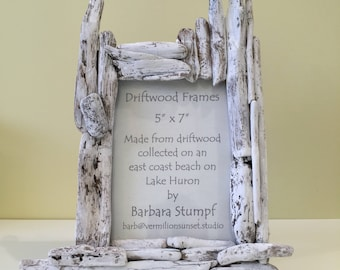 Driftwood Frame for 12.7x17.8 cm/5x7 in Photographs - photos from the company team building trip up in the mountains deserves this frame