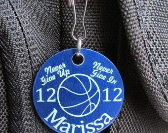 Girls Basketball Gifts, Basketball Zipper Pull, Basketball Team Gifts, Basketball Team Gift Ideas, Basketball Player Gifts