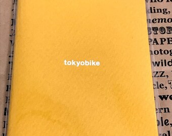 TRAVELER'S Bike tokyobike × TRAVELER'S FACTORY Limited Refill Passport size 64pages saffron yellow Made in Japan Gift Free shipping