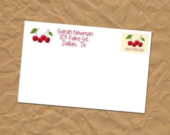 Custom Return Address Labels - Cherry - Stickers