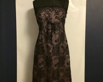 Vintage 90's Laundry by Shelli Segal Black Lace Dress Size 10
