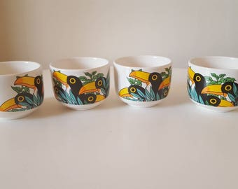vintage toucan cups