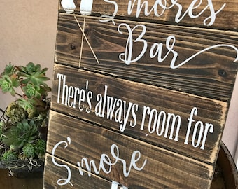 Smores bar sign