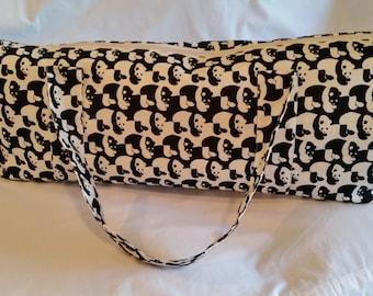 Panda Print Yoga Tote Bag
