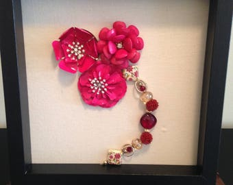 Jeweled Shadow Box Wall Art
