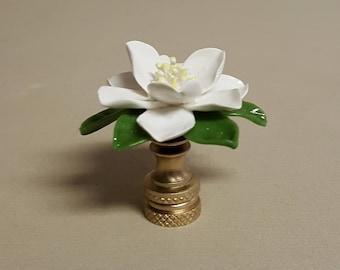 Magnolia Lamp Finial...Hand Crafted in Custom Colors