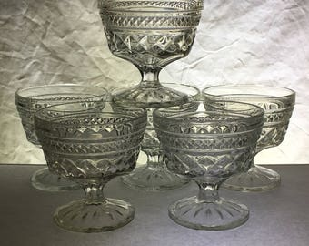 Wexford by Anchor Hocking | Sherbet or Coupe Champagne Glasses | Set of Six