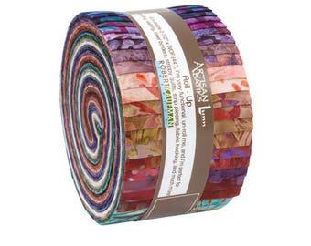 Kaufman Fabric Roll Ups , Artisan Batiks, Terrace, Rollup, Jelly Roll