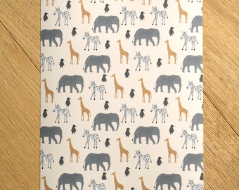SLIGHT SECOND, Zoo Animals Prints, Zoo Animal Nursery, Kids Room Art Prints, Nursery Decor, Nursery Prints, Nursery Wall Art, Home Decor