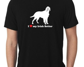 I Love My Irish Setter T-Shirt red T689