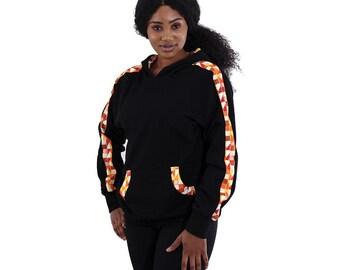 Africa  Kente Hoodie - Orange