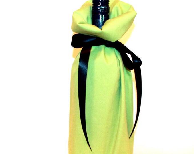 WINE GIFT BAG ~ Apple Green ~ Sack ~ Tote ~ Bell Art Designs WB110