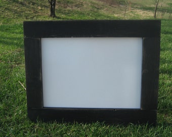 Distressed black white board rustic dry erase board home office wedding kids room playroom data center