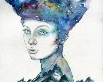Weight of the World - ART PRINT 8 x 10 | Watercolor by Ruth Oosterman