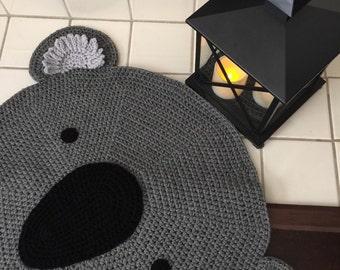 Crochet koala rug, Koala rug, handmade Koala rug,