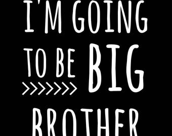 I'm going to be big brother, i'm going to be big sister, printable, digital, display