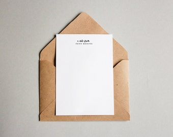 Personal Stationery Notecard (5x7)