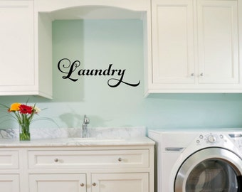 Laundry Room Vinyl Laundry Decal Laundry Wall Decal Laundry Vinyl Decal Laundry Door Decal Laundry Room Decal Laundry Room Decor