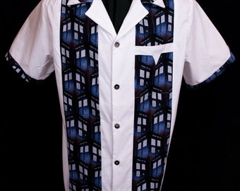 Legend Tardis White extremely limited-edition ultra-high quality men's shirt