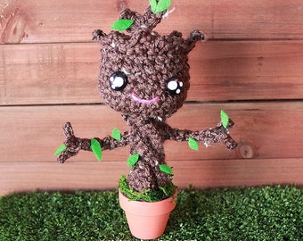 Free Shipping-Guardians of the galaxy Groot inspired crochet dolls, Plushies -Made to order