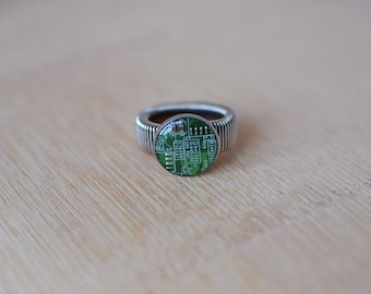 BeautIT recycled upcycled motherboard Rings