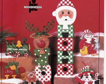 Christmas Wooden Cut Out Patterns and Painting Instructions Booklet