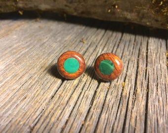 Wooden Earrings: Rosewood