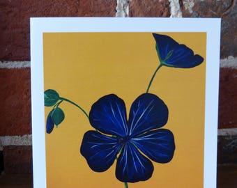 Meadow Cranesbill wildflower - greeting card