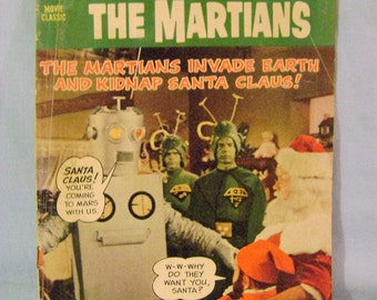 Vintage Santa Claus Conqueres the Martians Comic Book