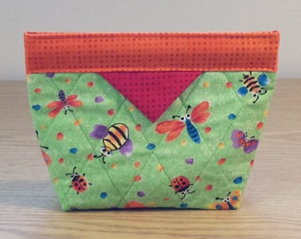 Quilted Snap Bag (SB076) Bugs