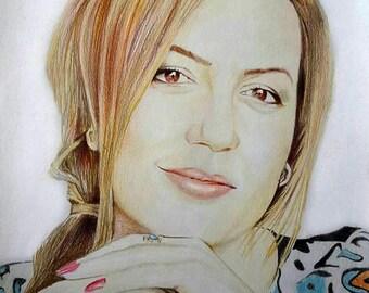 Custom Illustration, Custom Colored Portrait, Custom Sketch, Hand Drawn Portrait, Custom Digital Portrait, Custom Digital Illustration
