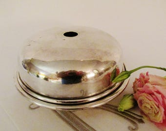 Silver Soldered Divided Dish With Lid, International Silver Co, Hotel Silver, Dome Plate Cover