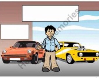 Car Enthusiast Personalized Cartoon
