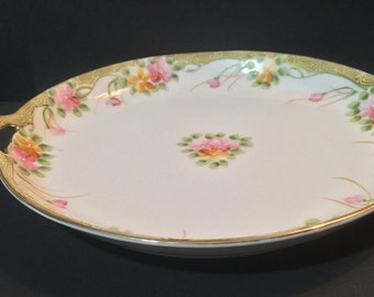Nippon China Open Handled Candy Dish