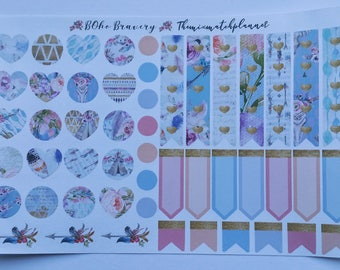 Flag,tags and decor sheet,planner stickers,Boho bravery,personal sheet,happy planner,erin conden,bullet journal,webster pages,TN