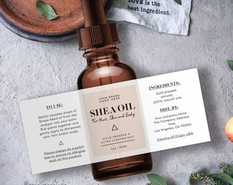 Stylish cosmetic labels - Label Design - Premade label design - Customizable product label - Trendy labels- Packaging and labels - Label