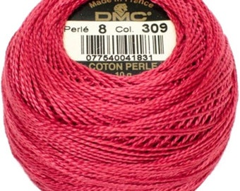 DMC 309  Perle Cotton Thread | Size 8 | Dark Rose