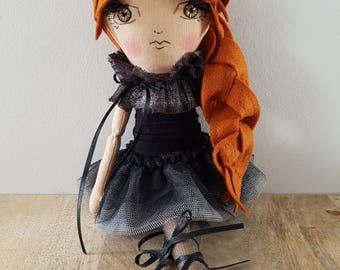Handmade Ooak 12 Inch  Doll / Art Doll / Cloth Doll / Fabric Doll / Heirloom Doll / Rag Doll / Gifts for Baby