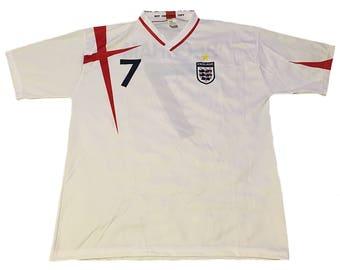 Vintage England David Beckham #7 Jersey