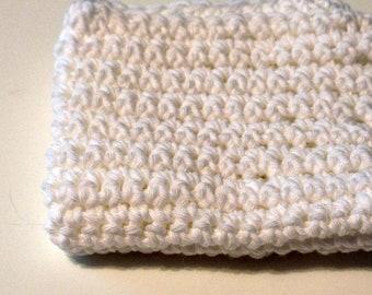 Crochet Dish Cloth Hot Pad White