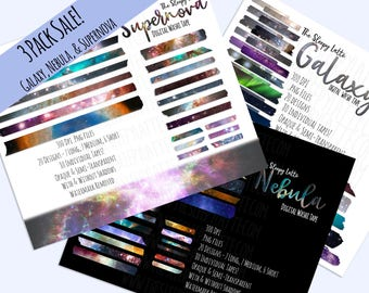 Digital Washi Tape - Space Pack - Digital Planning (Sale!)