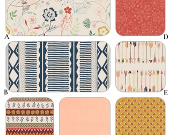 Woodland Tribal Peach, Navy and Coral Baby Bedding Crib Set - The Wild and Free Collection